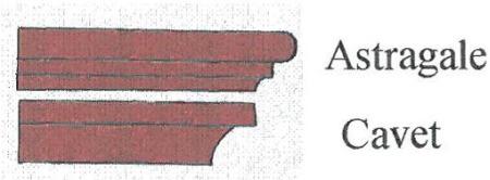 exemples de superpositions de corniches et moulure d corative briquetterie capelle. Black Bedroom Furniture Sets. Home Design Ideas